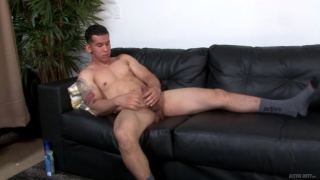 guy loves showing off his big dick