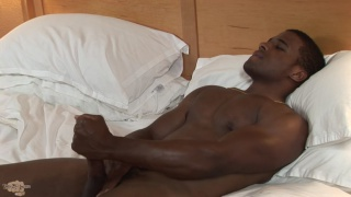 handsome stud with muscular body jerks off