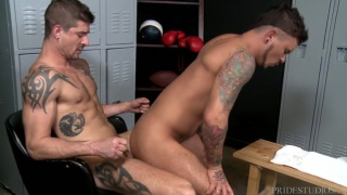 riding a hard dick in the locker room