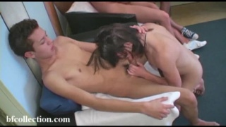 4 horny twink boys get it on