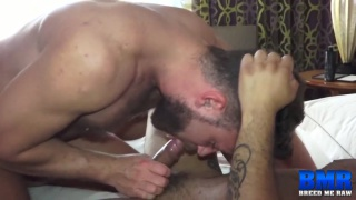 bottom gives his big slut ass to furry daddy top
