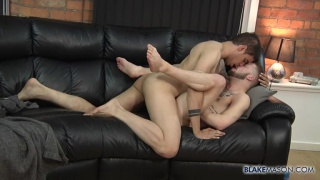 bearded bottom koby lewis gets a slow deep dicking