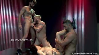 tegan zayne gang bang with Woody Fox, Teddy Torres, Beaux Banks & Riley Mitchell