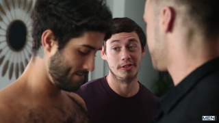 guy reunited with two past tricks for a threeway fuck