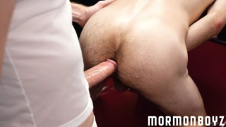 mormon daddy fucks a lad with his long cock