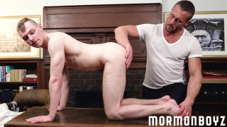 older mormon man eats out a missionaries hot young ass