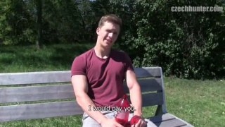 cute blond guy gets picked up in the park