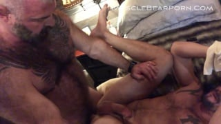 silver daddy fucks his new boy toy and pisses on him